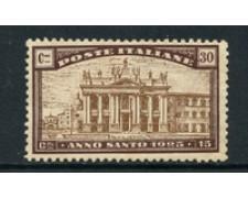 1924 - LOTTO/16494 - REGNO - 30+15 cent. ANNO SANTO - LINGUELLATO
