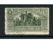 1930 - LOTTO/16509 - REGNO - 10+2,50 LIRE VIRGILIO - USATO