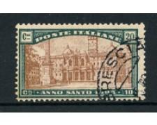 1924 - LOTTO/16511 - REGNO - 20+10C. ANNO SANTO - USATO