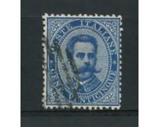 1879 - LOTTO/16520 - REGNO - 25 CENT. AZZURRO - USATO
