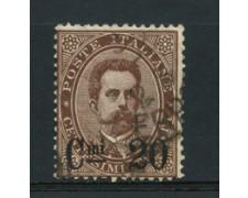 1890 - LOTTO/16522 - REGNO - 20c. su 30c. BRUNO UMBERTO I° - USATO