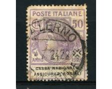 1924 - LOTTO/16528 - REGNO - 50 CENT. SICURAZIONI SOCIALI - USATO