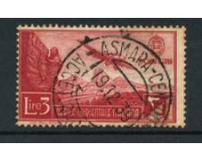 1938 - LOTTO/16544 - AFRICA ORIENTALE - 3 LIRE P/AEREA - USATO