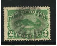 1880 - LOTTO/16566 - TERRANOVA - 2 cent. VERDE PESCE - USATO