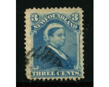 1880 - LOTTO/16567- TERRANOVA - 3 cent. REGINA VITTORIA - USATO
