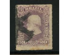 1878/79 - LOTTO/16578A - BRASILE - 20r. VIOLETTO PEDRO II° - USATO