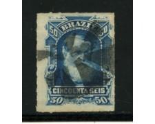 1878/79 - LOTTO/16579 - 50r. BLU PEDRO II° - USATO