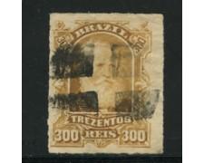 1878/79 - LOTTO/16582 - BRASILE - 300r. PEDRO II° - USATO
