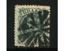 1882/85 - LOTTO/16585 - BRASILE - 100 r. PEDRO II° - USATO