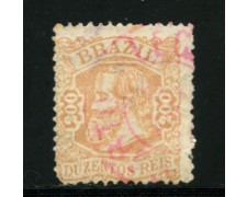 1882/85 - LOTTO/16586  - BRASILE - 200 r. PEDRO II° - USATO