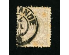 1884/88 - LOTTO/16589 - BRASILE - 10 r. GRIGIO   CIFRA - USATO