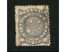 1884/88 - LOTTO/16591 - BRASILE - 300r.  BLU - USATO