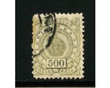 1884/88 - LOTTO/16592 - BRASILE - 500 r.  VERDE  - USATO