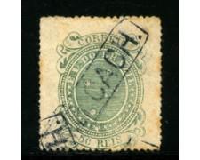 1884/88 - LOTTO/16594 - BRASILE -  50r. VERDE - USATO
