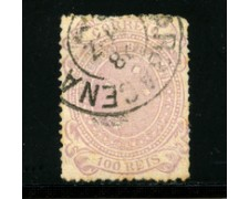 1889/93 - LOTTO/16595 - BRASILE - 100 r. LILLA - USATO
