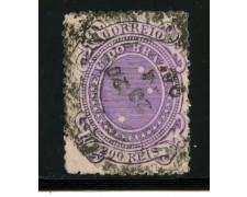 1889/93 - LOTTO/16596 - BRASILE - 200 r. VIOLETTO - USATO