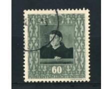 1949 - LOTTO/16649 - LIECHTENSTEIN - 60r. JEAN FOUQUET - USATO