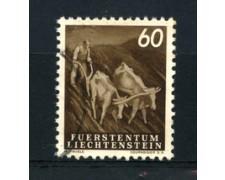 1951 - LOTTO/16651 - LIECHTENSTEIN - 60r. VITA CONTADINA - USATO