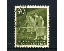 1951 - LOTTO/16652 - LIECHTENSTEIN - 90r. VITA CONTADINA - USATO