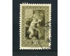 1952 - LOTTO/16653 - LIECHTENSTEIN - 30r. SANDRO BOTTICELLI - USATO