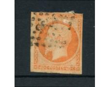 1853 - LOTTO/16880 - FRANCIA - 40 cent. ARANCIO NAPOLEONE - USATO