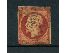 1853 - LOTTO/16681 - FRANCIA - 80 cent. CARMINIO NAPOLEONE - USATO
