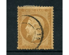 1862 - LOTTO/16682 - FRANCIA - 10cent . BISTRO  NAPOLEONE - USATO