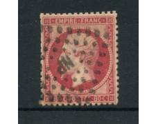 1862 - LOTTO/16684 - FRANCIA - 80 cent. ROSA NAPOLEONE - USATO