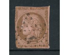 1870 - LOTTO/16687 - FRANCIA - 10 cent. BISTRO/BRUNO  CERERE - USATO