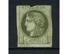 1870 - LOTTO/16688 - FRANCIA - 1 CENT. VERDE CERERE - NUOVO SENZA GOMMA