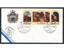 1989 - LOTTO/16694 - SAN MARINO - NATALE TRITTICO - BUSTA FDC