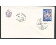 1987 - LOTTO/16702 - SAN MARINO - GIOCHI MEDITERRANEO - BUSTA FDC