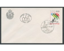 1987 - LOTTO/16703 - SAN MARINO - CAMPIONATI ATLETICA - BUSTA FDC