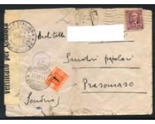 1944 - LOTTO/16719 - RSI - BUSTA DA COMO A SONDRIO TASSATA
