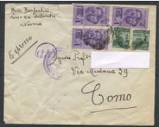 1944 - LOTTO/16720 - RSI - 1 LIRA FRATELLI BANDIERA - BUSTA ESPRESSO
