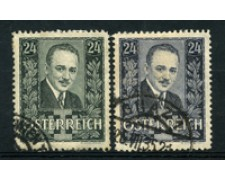 1934/35 - LOTTO/16740 - AUSTRIA - E. DOLFUSS  2v. - USATI