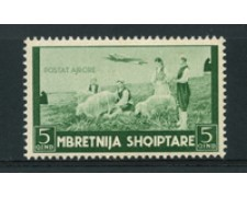1940 - LOTTO/16790 - ALBANIA ITALIANA - 5 q. POSTA AEREA - NUOVO