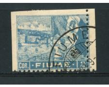 1919 - LOTTO/16791 - FIUME - 2 c. COBALTO USATO - VARIETA'