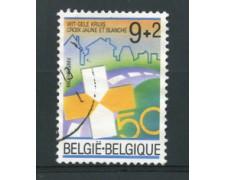 1987 - LOTTO/16851 - BELGIO - CROCE  GIALLA - USATO