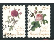 1988 - LOTTO/16853 - BELGIO - FILATELIA ROSE 2v. - USATI