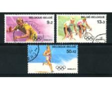 1988 - LOTTO/16855 - BELGIO - OLIMPIADI DI SEUL 3v. - USATI