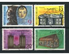 1988 - LOTTO/16858 - BELGIO - PATRIMONIO CULTURALE 4v. - USATI
