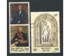 1981 - LOTTO/16866 - BELGIO - ANNIVERSARIO DINNASTIA 3v. - USATI