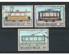 1983 - LOTTO/16867 - BELGIO - STORIA DEL TRAM 3v. - USATI