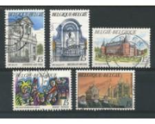 1992 - LOTTO/16876 - BELGIO - TURISTICA 5v. - USATI