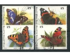 1993 - LOTTO/16882 - BELGIO - FARFALLE 4v. - USATI