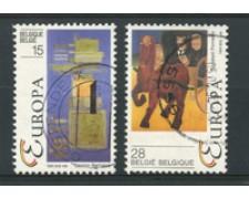 1993 - LOTTO/16883 - BELGIO - EUROPA 2v. - USATI