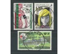1978 - LOTTO/16884 - BELGIO OPERE FILANTROPICHE 3v. - USATI