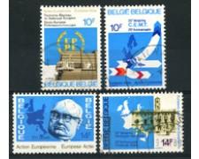 1978 - LOTTO/16885 - BELGIO - AZIONE EUROPEA - 4v. USATI