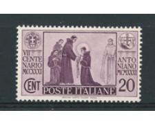 1931 - LOTTO/16982 - REGNO -  20 CENT. S.ANTONIO - NUOVO
